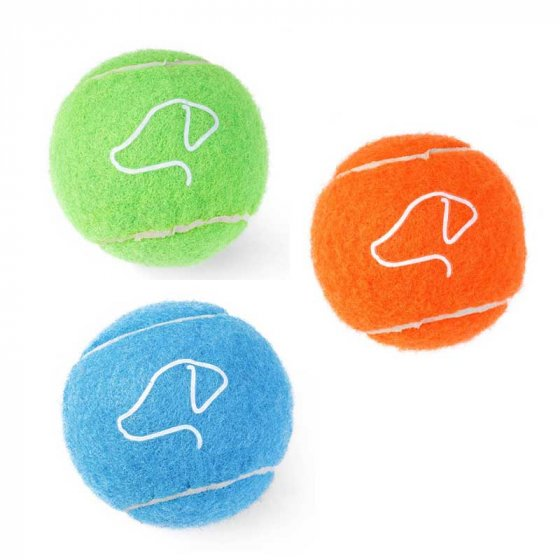 Zoon Squeaky Pooch Tennis Balls