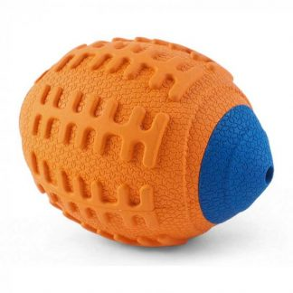 Zoon Squeaky Rugger Rubber 9cm