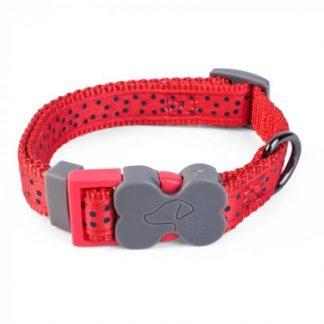 Zoon Walkabout Dog Collar - Red Polka