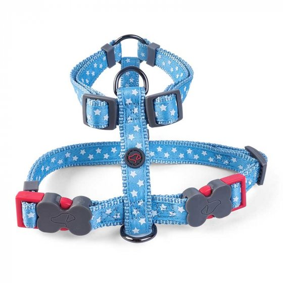 Zoon Walkabout Dog Harness - Starry Blue