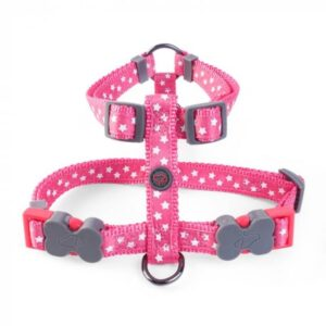 Zoon Walkabout Dog Harness - Starry Pink