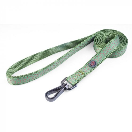 Zoon Walkabout Dog Lead - Green Polka