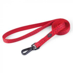 Zoon Walkabout Dog Lead - Red Polka