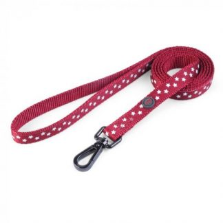 Zoon Walkabout Dog Lead - Starry Burgundy