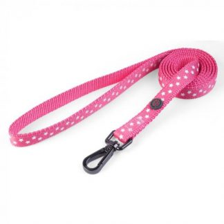 Zoon Walkabout Dog Lead - Starry Pink