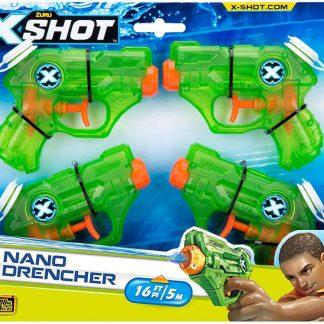 Zuru - X-Shot Nano Drencher 4 Pack