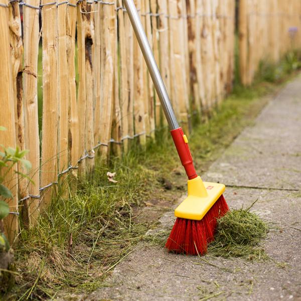 Clear garden debris with the Wolf Garten multi-change Yard Broom (B30M)