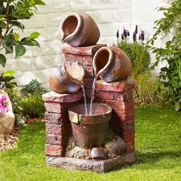 Kelkay Brick & Bowl Spills Water Feature