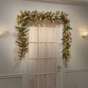 Frosted Berry Christmas Garland with 50 LEDs by National Tree Company