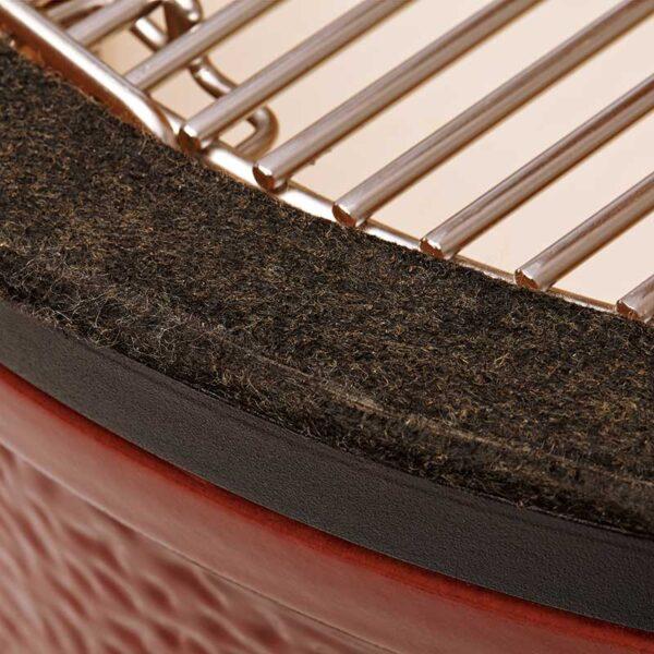 Kamado Joe Classic I Premium Ceramic Barbecue (Red) #KJ23RH (Felt rim protector)