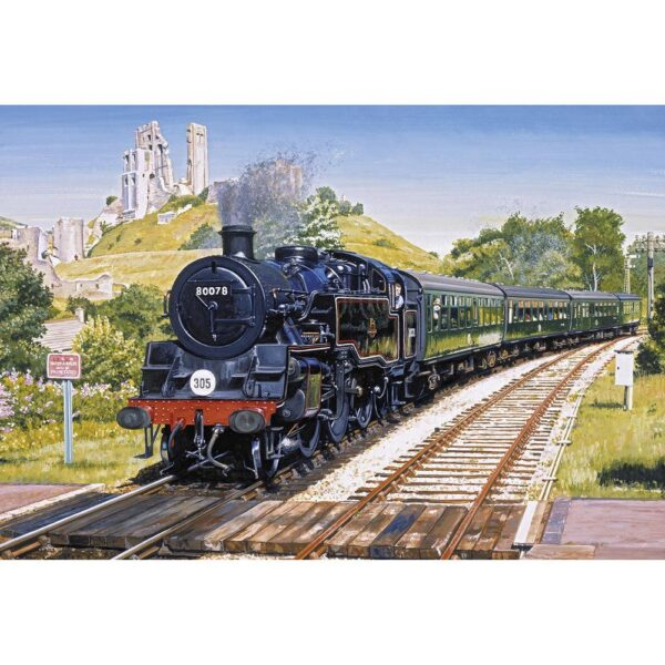 Gibsons Corfe Castle Crossing 500 Piece Jigsaw Puzzle
