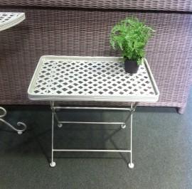 cream metal coffee table