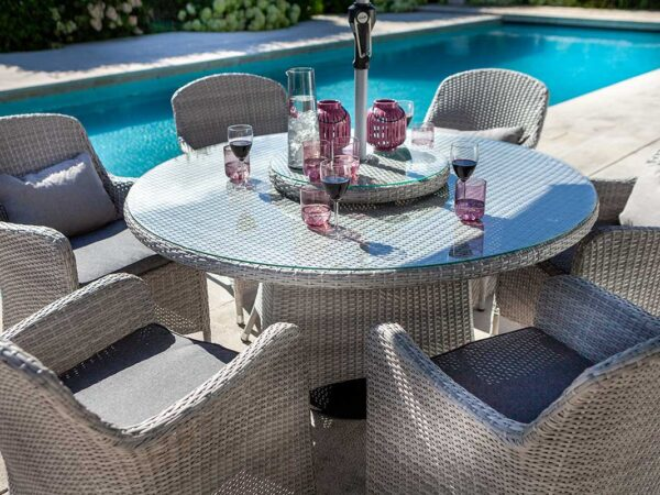 Hartman Curve 6 Seater Dining Set with Round Table