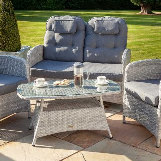 Hartman Curve Reclining Lounge Set in Cool Grey