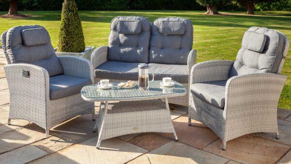 Hartman Curve Reclining Lounge Set in Cool Grey