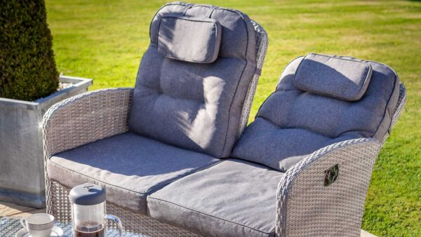 Hartman Curve Reclining Lounge Set in Cool Grey Close Up