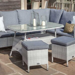 Hartman Curve Casual Dining Corner Set with Rectangular Table