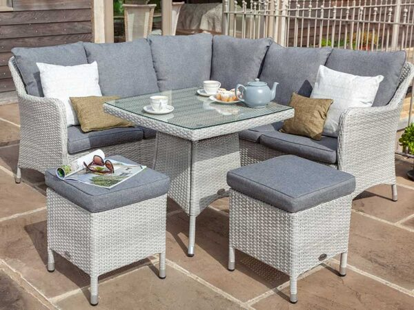 Hartman Curve Casual Dining Corner Set with Square Table
