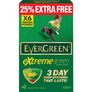 Evergreen Extreme Green Lawn Food (80m² + 25% Extra Free)
