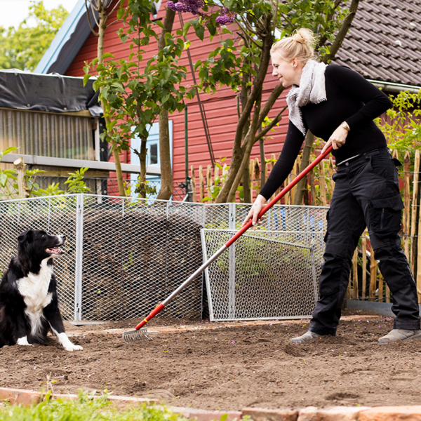 Prepare ground for planting with the Wolf Garten Multi-Change Soil Rake 30cm