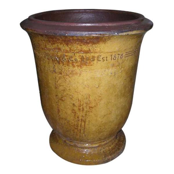 Errington Reay & Co. Ltd Courtyard Urn Old Leather