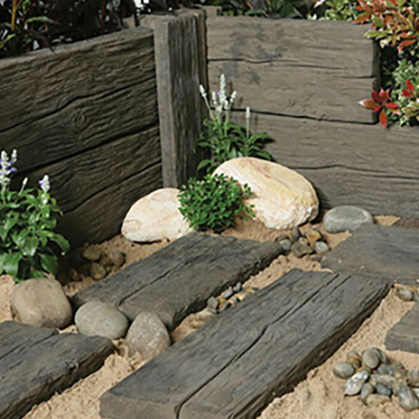 Logstone Sleeper Paving
