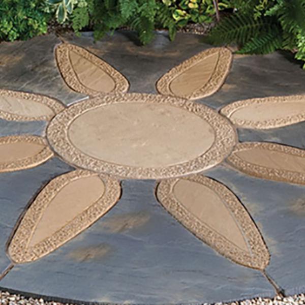 Kelkay Borderstone Patio Feature Kit - Abbey Petal Circle (1.8m)