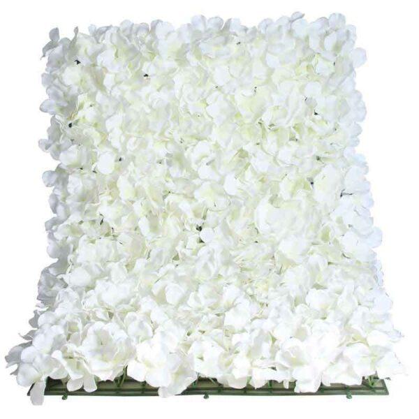 White Hydrangea Wall Panel (40cm x 60cm)
