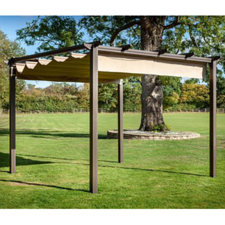 Hartman Bronze Square Roma Pergola (3m x 3m). This Pergola does not include canopy shown.