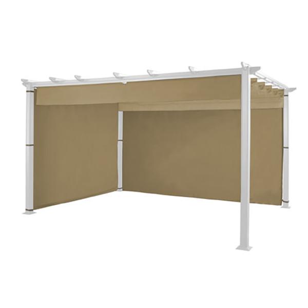 Detail of Hartman Roma Pergola 3m x 3m including Canopy & Curtains – Bronze