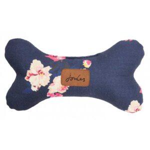 Joules Plush Navy Floral Bone Dog Toy