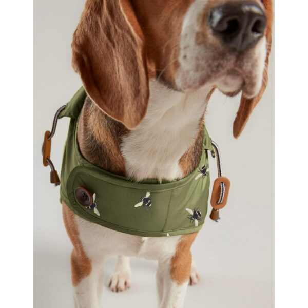 Joules Olive Bee Raincoat for Dogs
