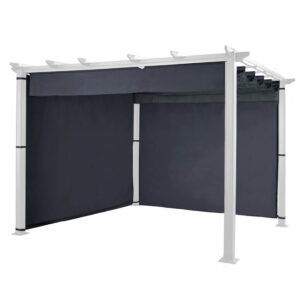Hartman Grey Square 3m x 3m Roma Pergola Curtain Pack - Side & Rear (Canopy and Pergola not included)