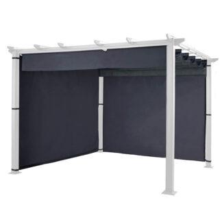 Hartman Grey Square Roma Pergola 3m x 3m (Pergola & Canopy not included)