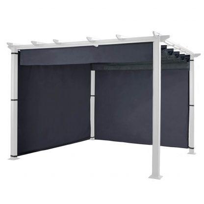 Hartman Grey Curtains for 3m x 3m Pergola