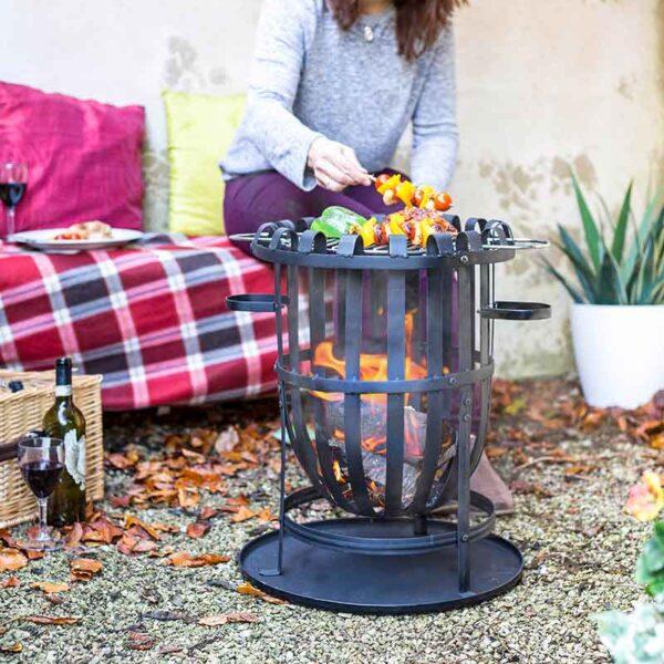 La Hacienda Vancouver Firebasket with cooking grate
