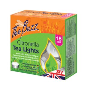 The Buzz Citronella Tea Lights - Pack of 18