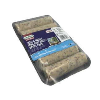 Gardman Seed and Mealworm Mini Suet Roll Refill (Pack of 6)