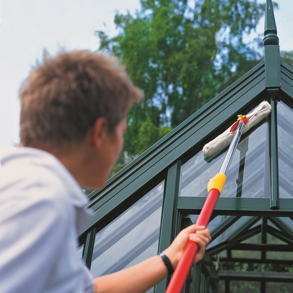Reach further to clean windows with the Telescopic Handle