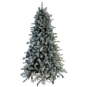National Tree Company Snowy Dorchester Pine Slim Artificial Christmas Tree