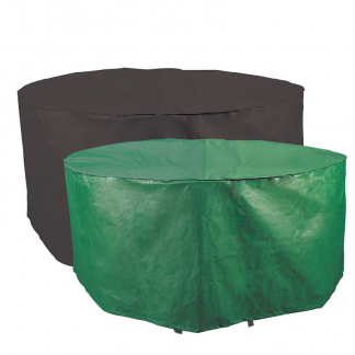 Bosmere Protector 2000 Circular 6/8 Seat Patio Set Cover (Reversible) - showing green & black sides