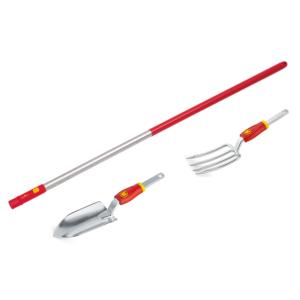 Wolf Garten multi-change Hand Fork, Hand Trowel & Medium Aluminium Handle Set