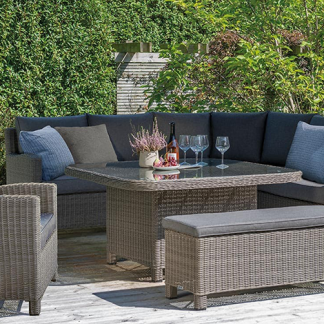 Palma Grande Corner Set in Rattan with Armchair & Bench