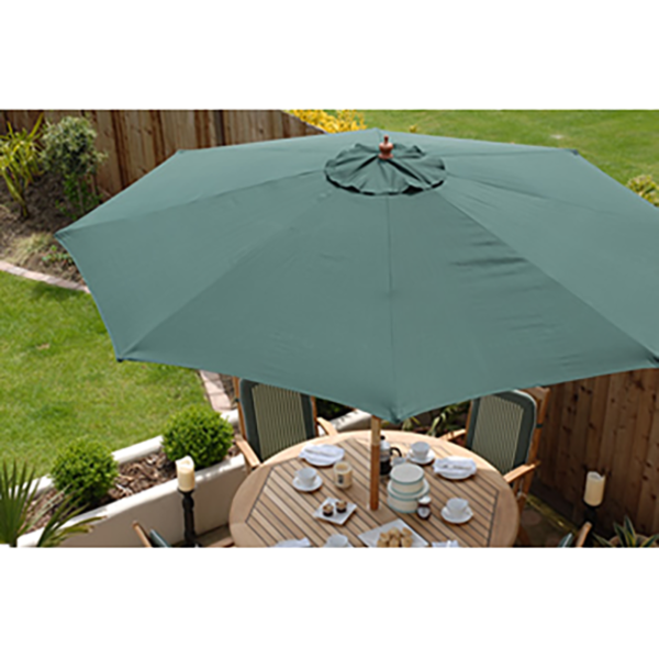 Example of Sturdi Wood Pulley Round Parasol (Green)
