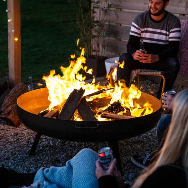 Pittsburgh Large Firepit in use