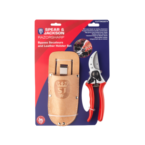 Bypass Secateurs and Leather Holster Set
