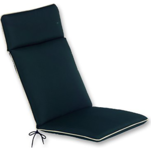 Glencrest Recliner Seat Cushion Pad in Black with Beige Trim