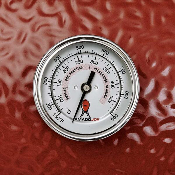 Kamado Joe Classic I Premium Ceramic Barbecue (Red) #KJ23RH (Temperature gauge)