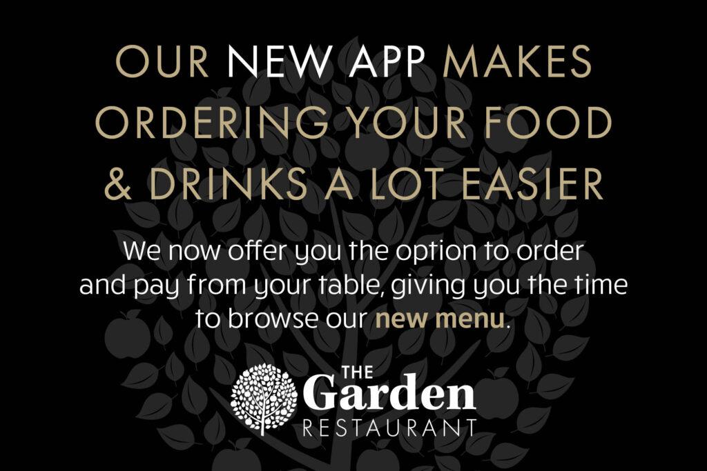 Restaurant app launch split web banner
