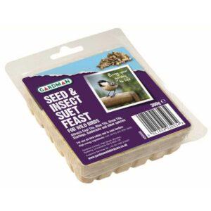 Gardman Seed & Mealworm Suet Feast